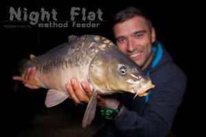 Ночной флэт фидер на коммерческом водоеме. Night flat feeder