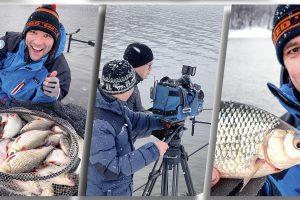 Vlog #28 Зимний фидер. Ловля плотвы на реке. ТВЦ интерьвью. Зимняя рыбалка.