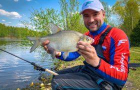 Рыбалка с фидером на канале весной.